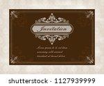 decorative frame in vintage... | Shutterstock .eps vector #1127939999
