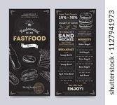 fastfood restaurant menu... | Shutterstock . vector #1127941973