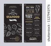 seafood restaurant cafe menu... | Shutterstock . vector #1127941976