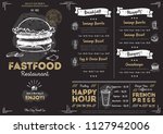 restaurant fast food cafe menu... | Shutterstock . vector #1127942006