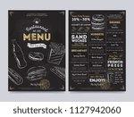 restaurant cafe menu template... | Shutterstock . vector #1127942060