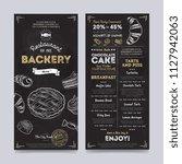 bakery restaurant cafe menu...   Shutterstock . vector #1127942063