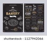 bakery restaurant cafe menu... | Shutterstock . vector #1127942066