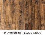 old rustic wooden floor paint... | Shutterstock . vector #1127943008