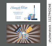 business card template of... | Shutterstock . vector #1127943248