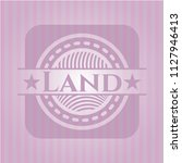 land badge with pink background | Shutterstock .eps vector #1127946413