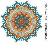 mandala flower decoration  hand ... | Shutterstock .eps vector #1127948738