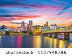 portland  oregon  usa skyline... | Shutterstock . vector #1127948786