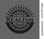 realism dark badge | Shutterstock .eps vector #1127957240