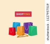shopping hanger shopping bag... | Shutterstock .eps vector #1127957519