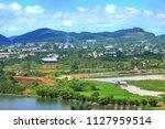 landscape on the highland  lam...   Shutterstock . vector #1127959514