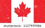 canada national flag grunge.... | Shutterstock .eps vector #1127959586