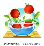 tomatoes clean and confident.... | Shutterstock .eps vector #1127972048