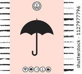umbrella icon symbol | Shutterstock .eps vector #1127977796