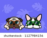 dogs with glasses background   Shutterstock .eps vector #1127984156