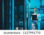 modern factory worker | Shutterstock . vector #1127991770