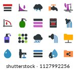 colored vector icon set   down...