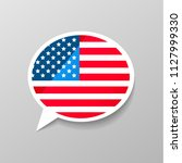 bright glossy sticker in speech ... | Shutterstock .eps vector #1127999330