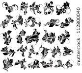 floral vector designs   Shutterstock .eps vector #112800040