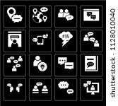 set of 16 icons such as video... | Shutterstock .eps vector #1128010040