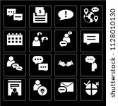 set of 16 icons such as polling ...