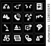 set of 16 icons such as... | Shutterstock .eps vector #1128010193