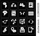set of 16 icons such as... | Shutterstock .eps vector #1128010220