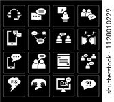 set of 16 icons such as... | Shutterstock .eps vector #1128010229