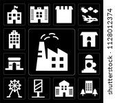 set of 13 simple editable icons ... | Shutterstock .eps vector #1128012374