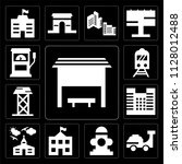 set of 13 simple editable icons ... | Shutterstock .eps vector #1128012488