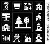 set of 13 simple editable icons ... | Shutterstock .eps vector #1128012560