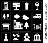 set of 13 simple editable icons ... | Shutterstock .eps vector #1128012620