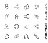 link icon. collection of 16... | Shutterstock .eps vector #1128012878