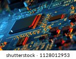 electronic circuit board close... | Shutterstock . vector #1128012953
