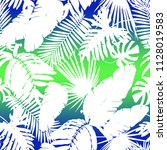 seamless colorful tropical... | Shutterstock . vector #1128019583