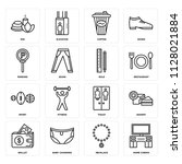 set of 16 icons such as home...