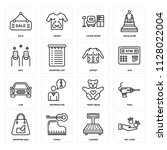set of 16 icons such as pet...