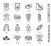set of 16 icons such as cinema  ...