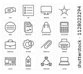 set of 16 icons such as laptop  ... | Shutterstock .eps vector #1128023294