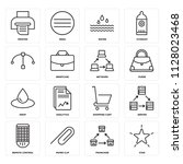set of 16 icons such as star ...