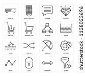 set of 16 icons such as filter  ... | Shutterstock .eps vector #1128023696
