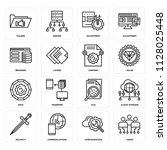 set of 16 icons such as users ...