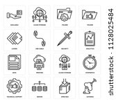 set of 16 icons such as antenna ...