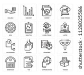 set of 16 icons such as storage ...