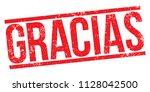 thanks  gracias  rubber stamp...   Shutterstock .eps vector #1128042500