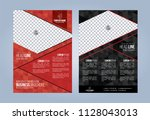 black and red business brochure.... | Shutterstock .eps vector #1128043013