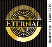 eternal gold shiny badge | Shutterstock .eps vector #1128043310