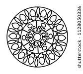 flower mandala vector... | Shutterstock .eps vector #1128050336