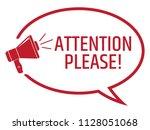 attention please announcement....   Shutterstock .eps vector #1128051068