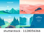 vector set of flat summer... | Shutterstock .eps vector #1128056366